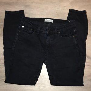 Madewell black moto jean